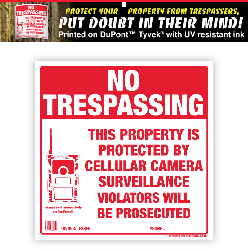 No Trespassing Sign for Hunters